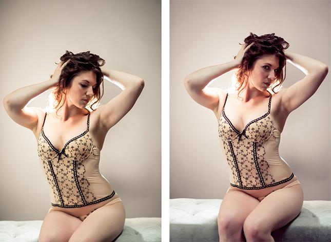 Miss I photographed by Peekabo Portland Boudoir Photography