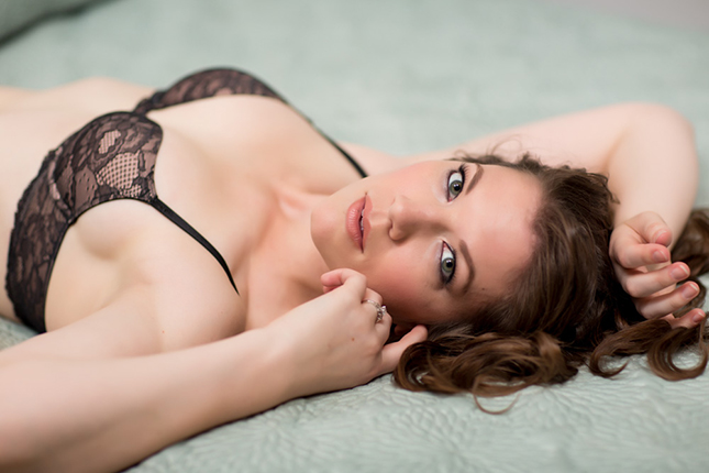 Miss J photographed by Peekabo Portland Boudoir Photography
