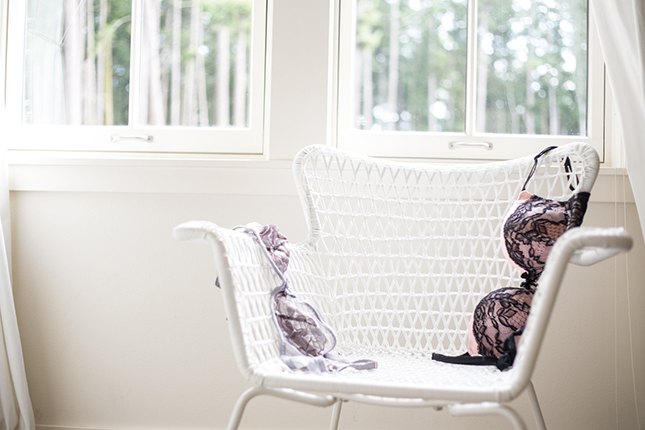 Peekabo Portland Boudoir Photography Lingerie on the Chair