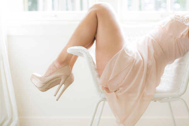 Peekabo Portland Boudoir Photography Sexy Legs and Shoes